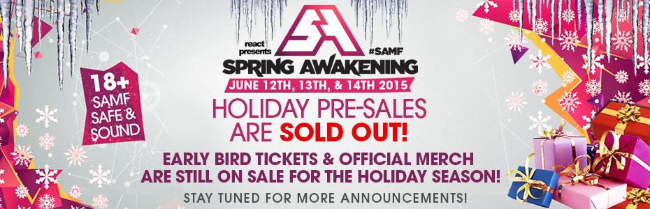 Spring Awakening Music Festival 2014 Lineup