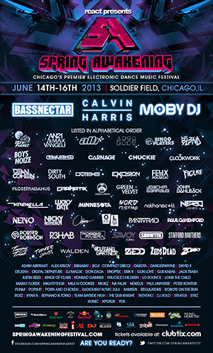 Bassnectar, Calvin Harris, 12th Planet, ATB, Bingo Players, DJ Blend, Boys Noize, Break Science, Carnage, Chuckie, Dirty South, Excision, Felix Da Housecat, Figure, Flosstradamus, DJ Godfather, Gramatik, Green Lantern, Green Velvet, Joachim Garraud, Knuckle Children, Krewella, Lucky Date, Milk n' Cookies, Minnesota, Mord Fustang, Nathan Scott, Nervo, Nicky Romero, Oliver, Paul Oakenfold, Paul Van Dyk, Porn and Chiken, Porter Robinson, R3Hab, Robbie Rivera, Savoy, Stafford Brothers, Stratus, Team Bayside High, Tommy Trash, Topher Jones, Walden, Wolfgang Gartner, Zebo, Zedd, Zeds Dead, Zomboy, Adam Abstrakt, Alex Kislov, Bisharat, Boji, Compact Disco, Dakota, DangerWayne, David S Deletah, Digital Departure, DJ Magix, Enoptix, Erik K, Gun Love, Gus Karas, Jack Trash, Kings of Class Konrad Gainnes, Louis the Child, Mario Florek, MightyThor, Na Palm, NORdjs, Paul Universe, Peter Kontor, PHNM Popsh!t, Ramsen, Regulators, Robots on the Run, Rozz, Ryan B, Sephano and Torio, The Dub Knight, Xonic, Xposur, Yos